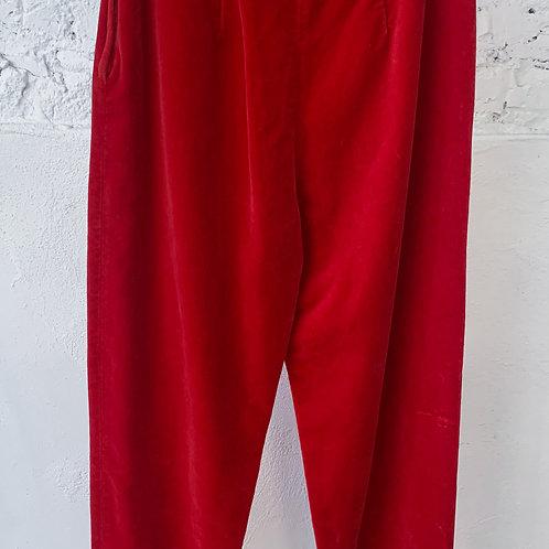 VINTAGE 60's Red Velvet Stefanel Pant