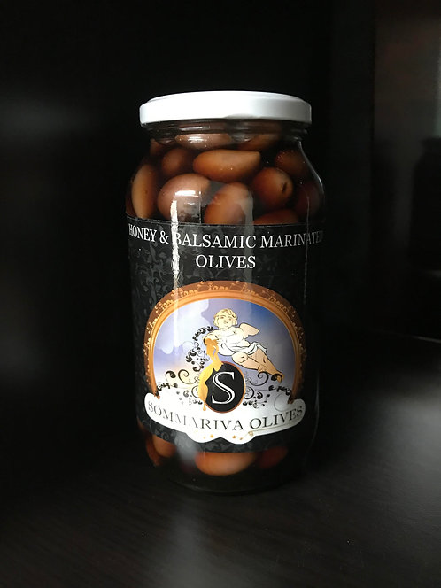 Honey, Balsamic & Garlic Olives - 800g Jar