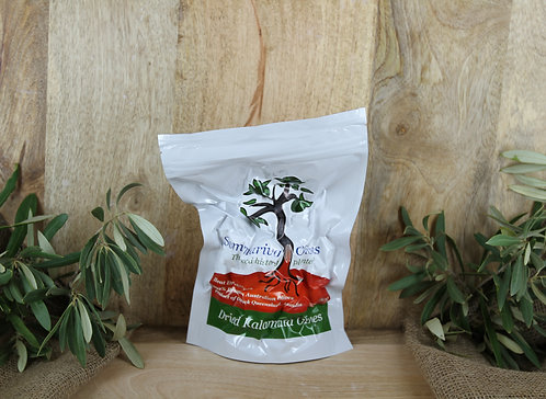 Heat Dried Black Kalamata Olives - 300g Vacuum Pac