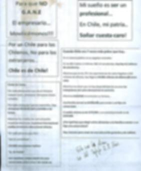 panfletos marchas estudiantiles 2011, chile.