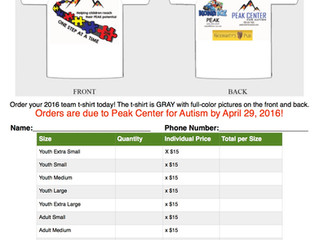 Autism Speaks Walk T-Shirts!