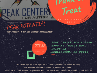 2018 Autism Friendly Trunk or Treat