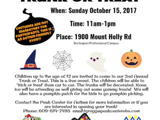 2nd Annual Autism Friendly Trunk or Treat