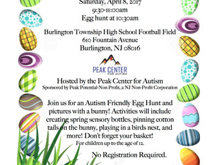 Autism Friendly Egg Hunt and Pictures with the Bunny