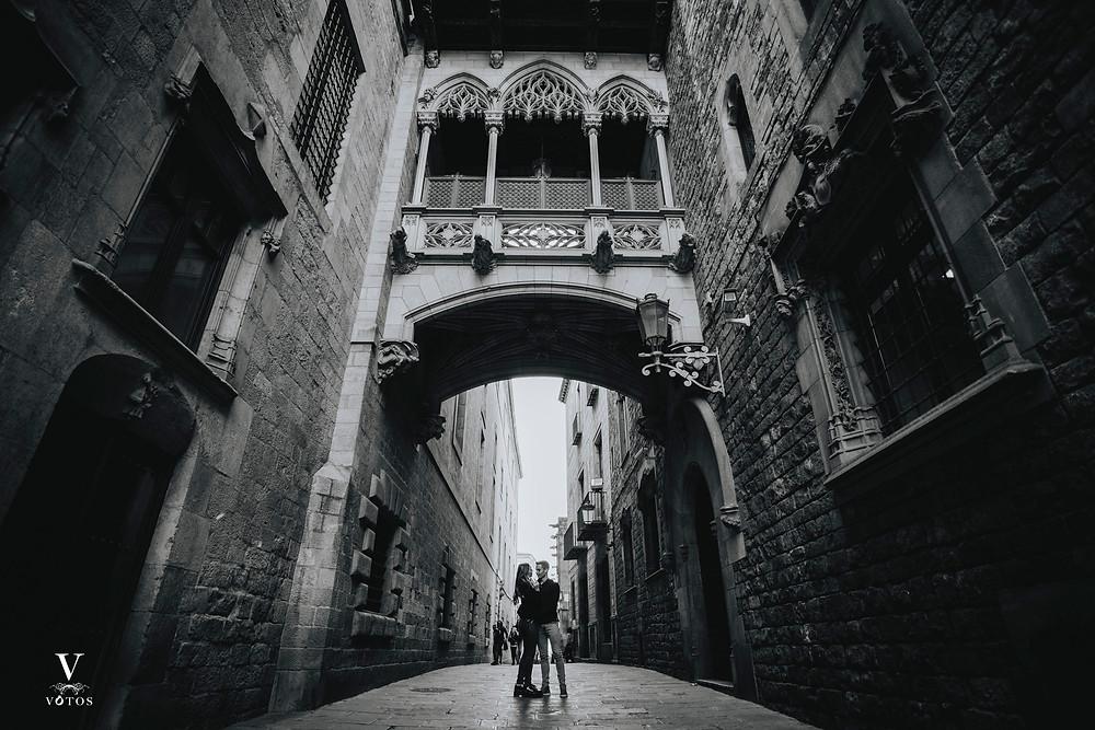 Preboda, Boda en el Barrio Gótico, Barcelona