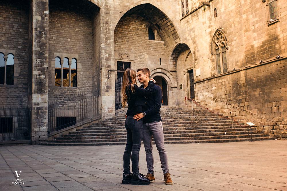 boda en plaça del rei barcelona