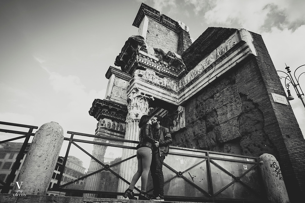 Preboda boda en Foro de Trajano Roma