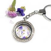 flower keepsake glass locket