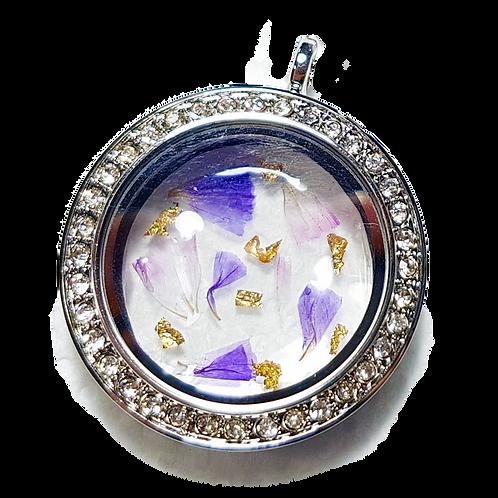 Flower Glass Locket