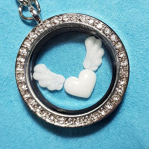 Angelic Love Breastmilk Glass Locket