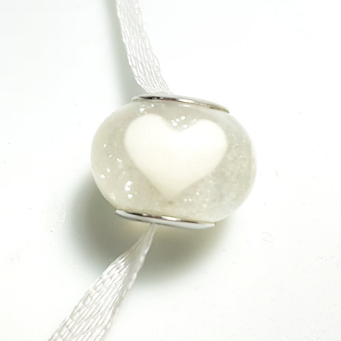 Heart Charm Breastmilk European Bead