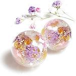 flower keepsake earring