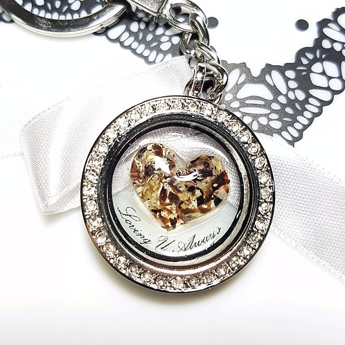 Big Heart Umbilical Cord Glass Locket