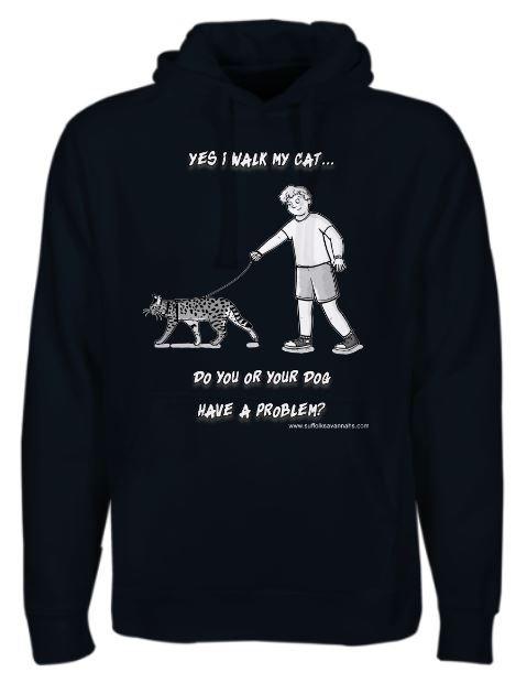 Yes I walk my cat - male Hoodie