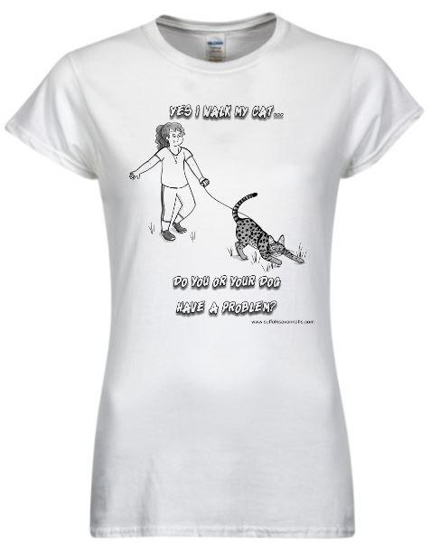 Yes I Walk My Cat Women's T-Shirt