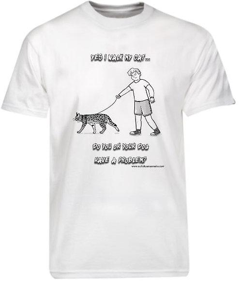 Yes I Walk My Cat Mens T-Shirt