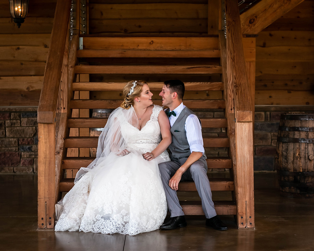 Bride and groom share a special moment at Sycamore Farm