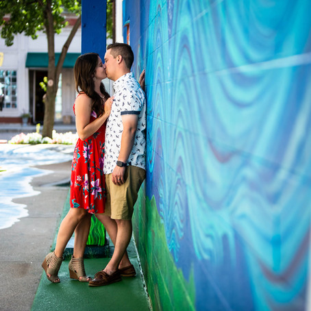 Colorful Downtown Mt. Clemens Couples Session | Michigan Engagement Photographer