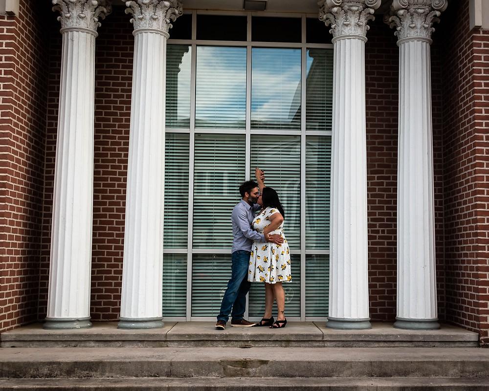Couple dancing in downtown Murfreesboro