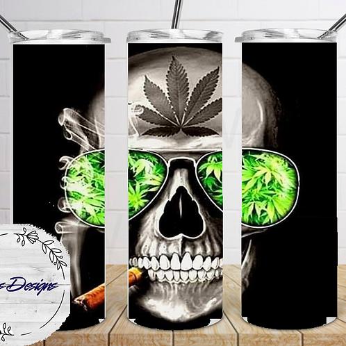 420-004 Skeleton Weed Head - 20oz Skinny Tumbler