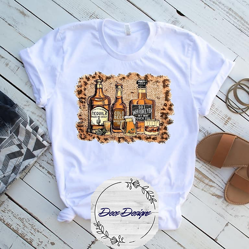 001 Tequila Beer Whiskey TShirt