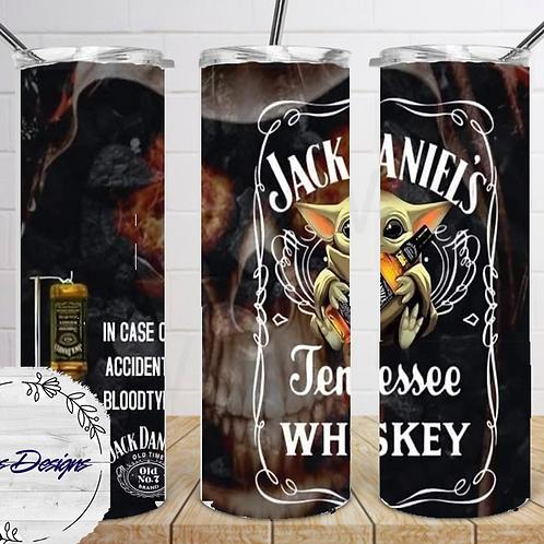 017 Jack Daniels Whiskey3 - 20oz Skinny Tumbler