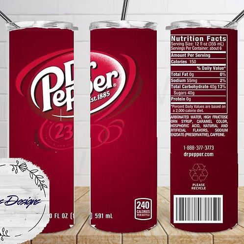 044 Dr Pepper - 20oz Skinny Tumbler