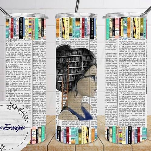 041 Book Girl - 20oz Skinny Tumbler