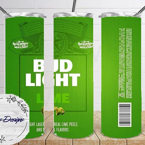 043 Bud Light Lime - 20oz Skinny Tumbler