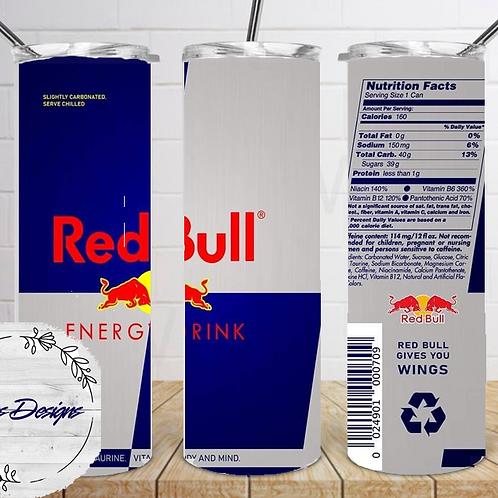 041 Red Bull - 20oz Skinny Tumbler