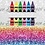 Thumbnail: 018 Crayon Monogram - 20oz Skinny Tumbler
