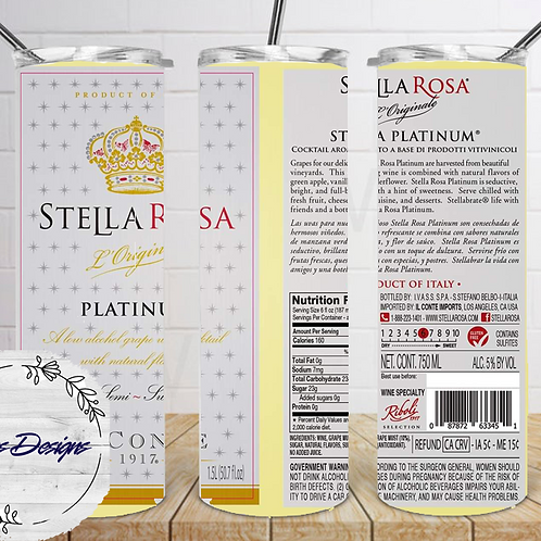 050 Stella Rose Platinum - 20oz Skinny Tumbler