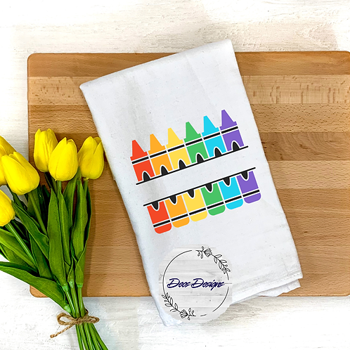 012 Crayon Tea Towel