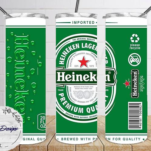 011 Heineken - 20oz Skinny Tumbler