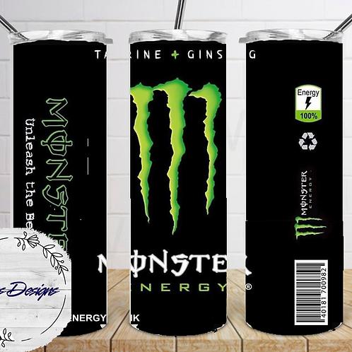 034 Monster Black - 20oz Skinny Tumbler