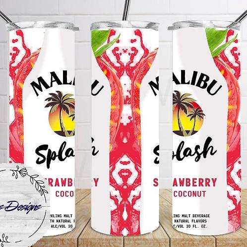 023 Malibu Splash Strawberry - 20oz Skinny Tumbler