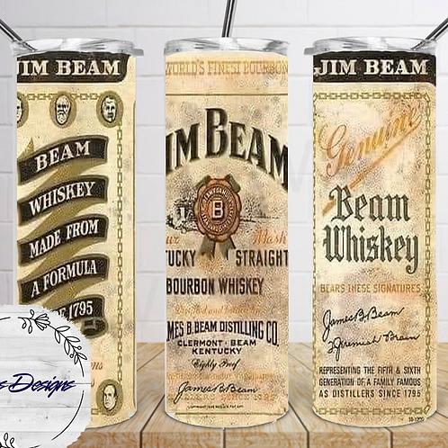 019 Jim Beam Whiskey - 20oz Skinny Tumbler