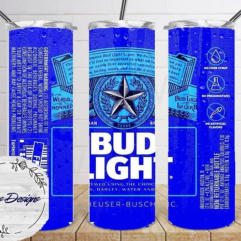 042 Bud Light - 20oz Skinny Tumbler