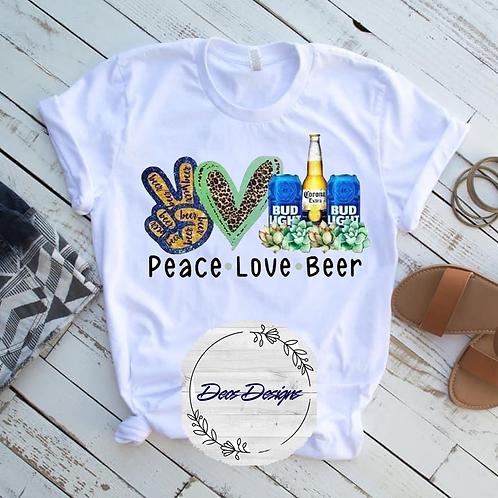 005 Peace Love Bud Beer