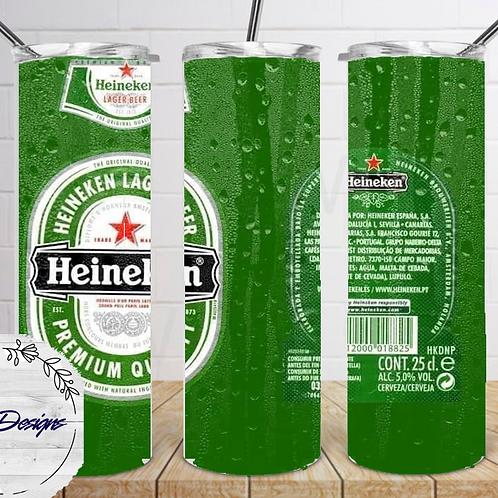 012 Heineken - 20oz Skinny Tumbler
