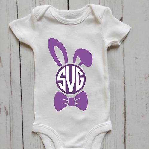Boy Easter Bunny Monogram