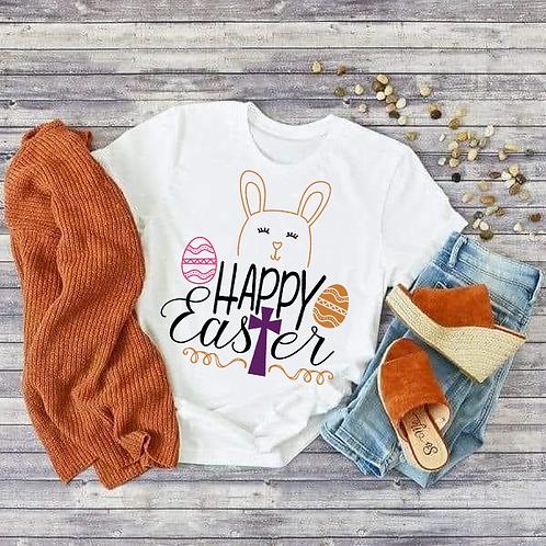 Happy Easter w/ Cross