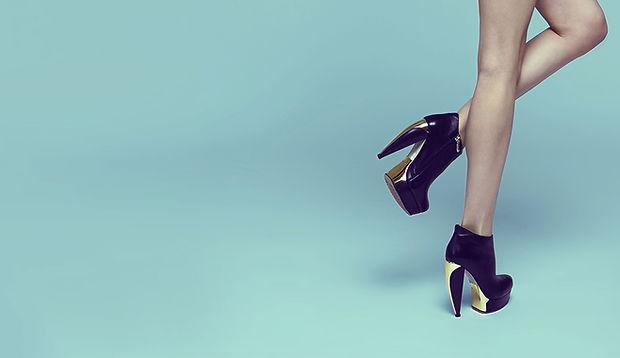 Black Chunky Stilettos