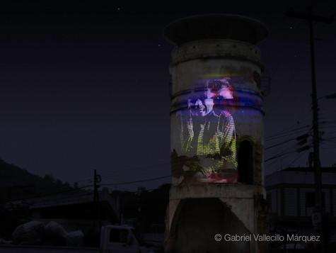 Precipitation of tenderness   Guerrilla videomapping