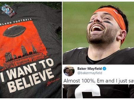 """Baker Mayfield """"presque à 100% """" sûr qu'il a vu un OVNI survoler le Texas"""
