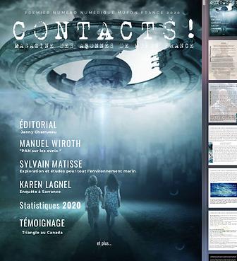 Contacts abonnement MUFON France