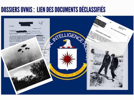 CIA documents OVNIs déclassifiés : c'est ici