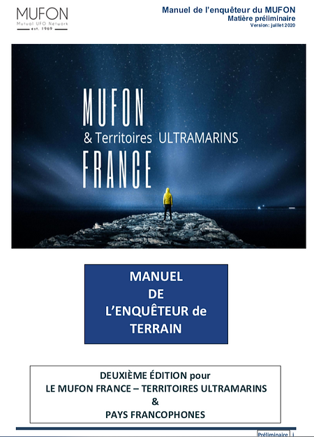 enqueteur MUFON France officiel