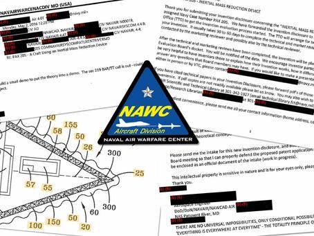 """Les brevets sur les """"OVNI"""" de la marine ont fait l'objet d'un examen..."""