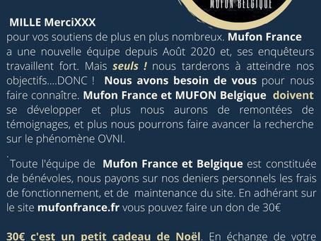 faites connaître MUFON France & Belgique autour de vous !